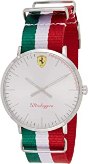 Scuderia Ferrari Men's Silver Dial Color Nylon Band Band Watch - 830333