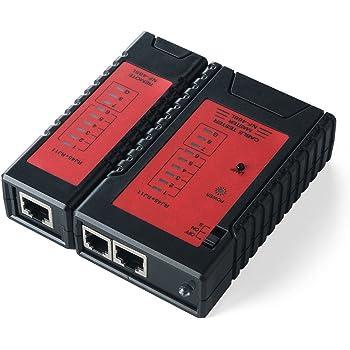 サンワダイレクト LANテスター LANケーブル/RJ-45 モジュラーケーブル/RJ-11 対応 LEDライト内蔵 親機・子機脱着可 500-LANTST1