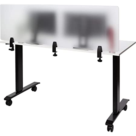 Stand Up Desk Store Refocus Clamp On Acrylic Desk Divider Partition Sneeze Guard Shield Frosted 60 W X 18 H Furniture Decor