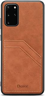 PU Leather Flip Cover Compatible with Samsung Galaxy S10, brown Wallet Case for Samsung Galaxy S10