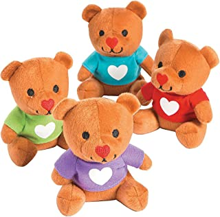 Plush Valentine Bears with T-Shirts for Valentine's Day - Set of 12 - Stuffed Animal Toys and Gifts for Kids