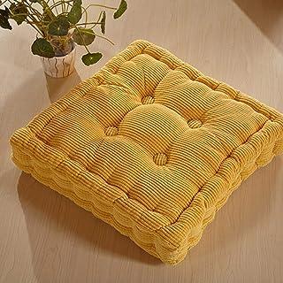DUCHEN Cojín de piso suave cuadrado para asiento acolchado grueso para interior y exterior, silla de comedor, cojín para sofá de jardín