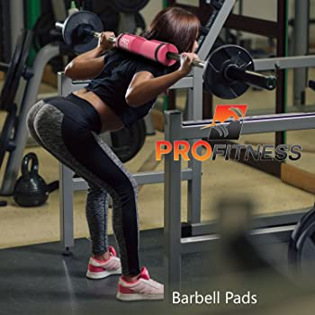 ProFitness Barbell Pad Squat Pad- Shoulder Support for Squats, Lunges & Hip Thrusts - for Olympic or Standard Bars