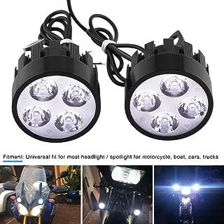 VGEBY 1 Pair Motorcycle LED Headlight Fog Light Spotlight Driving Auxiliary Light