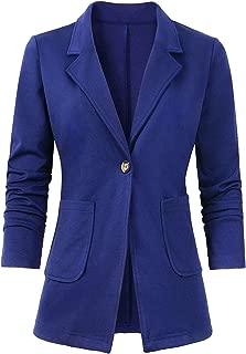 Women's Casual Work Office Blazer Long Sleeve Open Front Work Office Blazer Jacket S-XXL
