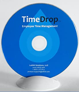 Employee Time Clock Software, Time Attendance Tracker, Secure Punch Clock In & Out, No Monthly Fees, Free Support & Updates, Unlimited User Profiles, Download & CD - TimeDrop by LotHill