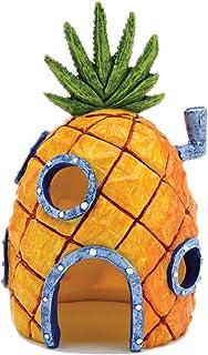 Nickelodeon's Bob Esponja Squarepants Pequeña casa de piña de 6 Pulgadas Adorno de Acuario de Penn Plax – Resina Duradera Segura para Todos los Peces – SBR10