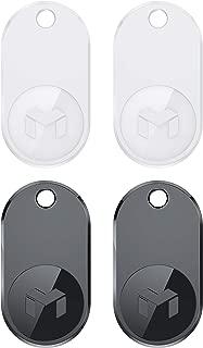 MYNT ES - 貴重品探索コンパス 電話探知機 キーファインダー 財布追跡機 鍵 ウォレット スマフォ 携帯 数秒で紛失物を見つける(4個パック、黒2+白2)