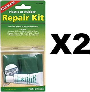Coghlan's Plastic or Rubber Repair Kit w/ 0.3fl.oz. Rubber Patches (2-Pack)