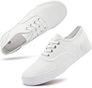 Women's Canvas Sneakers Low Cut Canvas Shoes Lace Up...