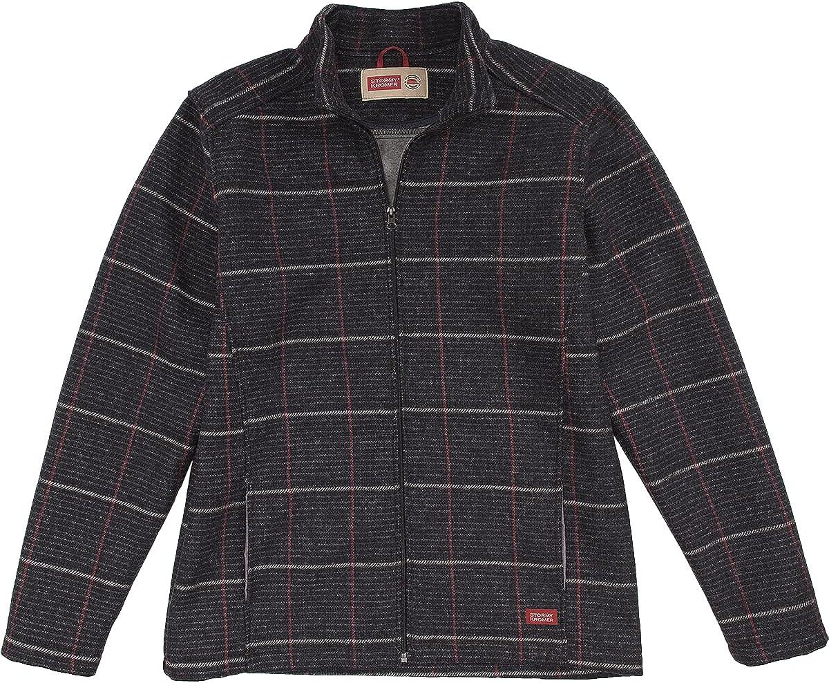 Stormy Kromer The Boundary Jacket – Men's Full Zip Wool Jacket with Fleece Backing