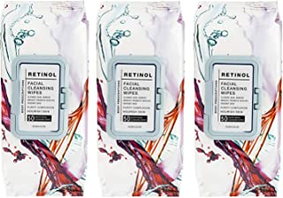 Sponsored Ad - Body Prescriptions 3 Pack (50 Count Each) Retinol Facial Cleansing and Gentle Make Up Remover Wipes – Flip ...