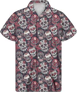 Showudesigns Camisa de manga corta para hombre, estilo hawaiano, con botones, para playa, verano, talla 2XS-4XL