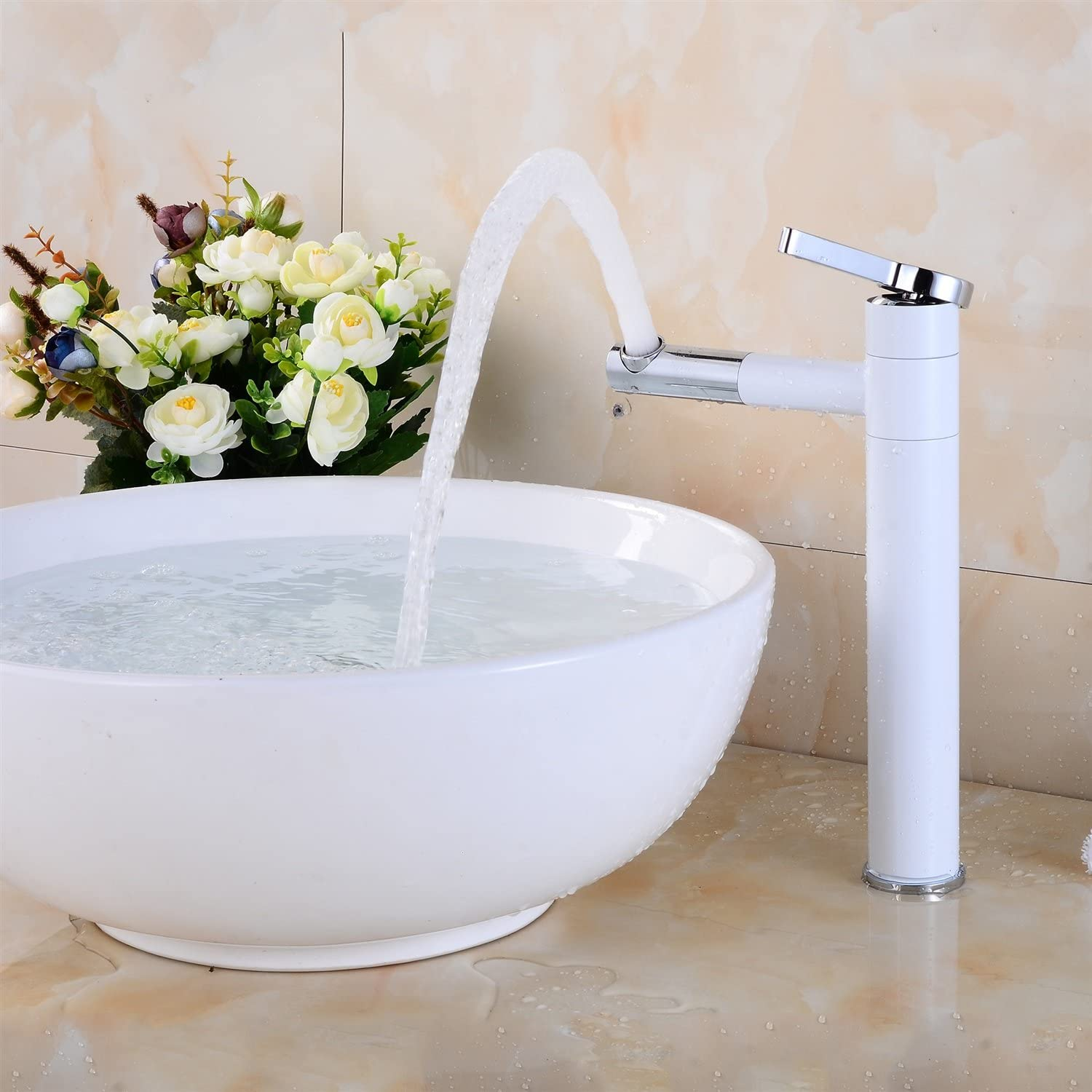 Bathroom Sink Taps 360° Swivel Basin Mixer Cold And Hot Water Mixer Bathroom Mixer Taps Brass Bathroom Sink Faucet Taps