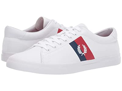 Fred Perry Underspin Plastisol Twill (White/White) Men