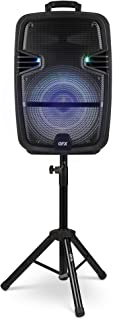 """$149 » Sponsored Ad - QFX PBX-616SM 15"""" Bluetooth Rechargeable Speaker with LED Lights, Mic and Stand (2021 Model)"""