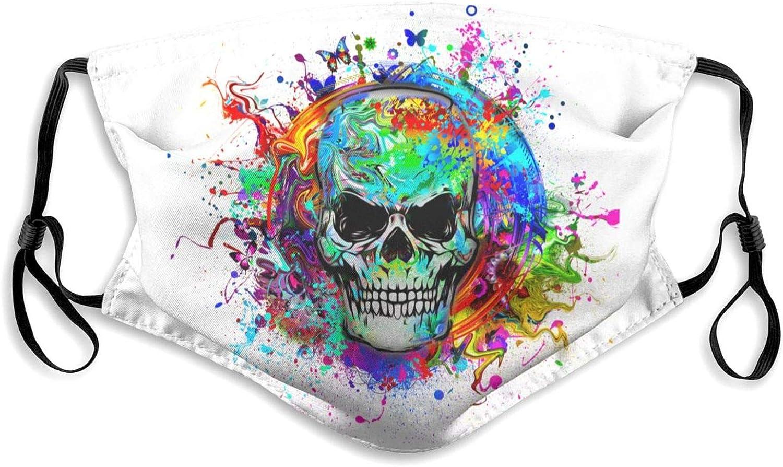 Yunshm Art 5 ☆ popular Evil Skull Max 48% OFF Face Cover Balaclavas Reusa Dustproof Mask