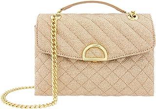 حقيبة تسوق للنساء من اكسيسورايز، بلون ذهبي