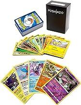 100 Pokemon Cards with 5 Holo Rares Plus Poshinzo Card Box