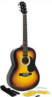 Martin Smith W-100-SB-PK Acoustic Guitar Kit with Guitar Strings Guitar Plectrums Guitar Strap Sunburst