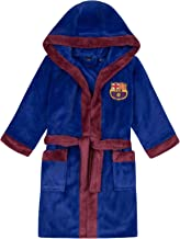 FC Barcelona - Jungen Fleece-Bademantel mit Kapuze - Offizielles Merchandise - Geschenk für Fußballfans