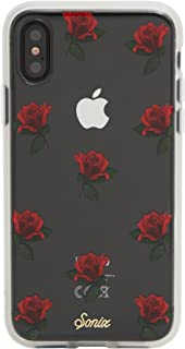 Sonix Rosa Case for iPhone X/XS [Military Drop Test Certified] Women's Protective Red Roses Floral Clear Case for Apple iPhone X, iPhone Xs