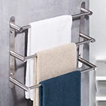 Handdoekhouders Wandmontage 3-laags badhanddoekenrek SUS 304 Geborstelde afwerking Roestvrijstalen handdoekenrek Handdoekh...