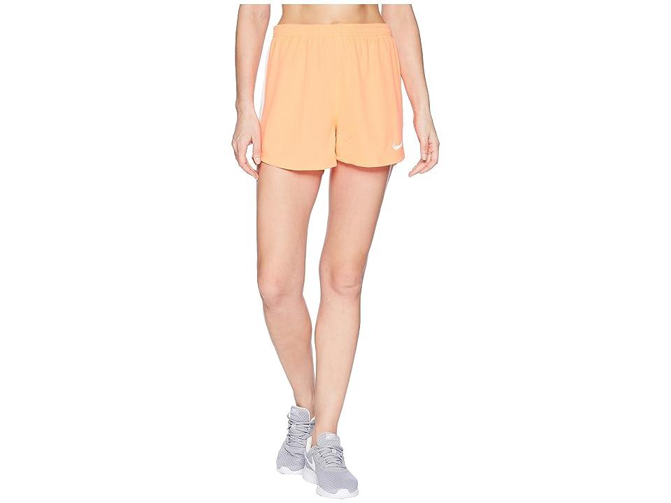Nike Dry Academy Soccer Short (Bright Mango/White/White) Women