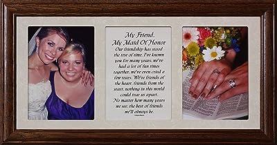 PersonalizedbyJoyceBoyce.com 10x19 MY FRIEND, MY MAID OF HONOR ~ Poetry & Photo ~ Holds Two Portrait 5x7 Photos ~ Wedding Frame
