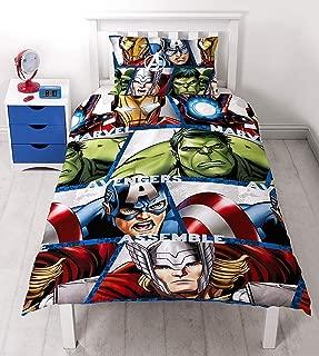 Marvel Avengers Shield Reversible Single Duvet Cover Twin Bed