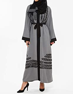 Nukhbaa Grey Casual Abaya For Women