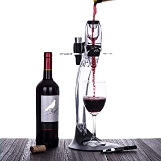 Vina Deluxe Wine Aerator Gift Set - Wine Accessories Kit with Wine Aerator Decanter, Corkscrew, Foil Cutter, Stopper, Pourer & Storage Stand Tower, Best Gift for Wine Lover & Enthusiast