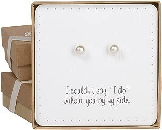 bridesmaid pearl earrings