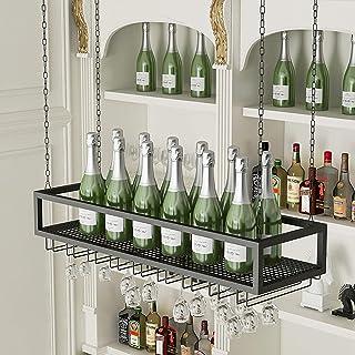 Casiers à bouteille Étagère à vin Support de Verre à vin, casiers à vin muraux, casier à vin à l'envers, étagère de décora...