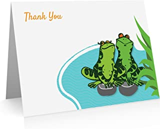 Frog Thank You Note Cards (24 Foldover Cards and Envelopes)