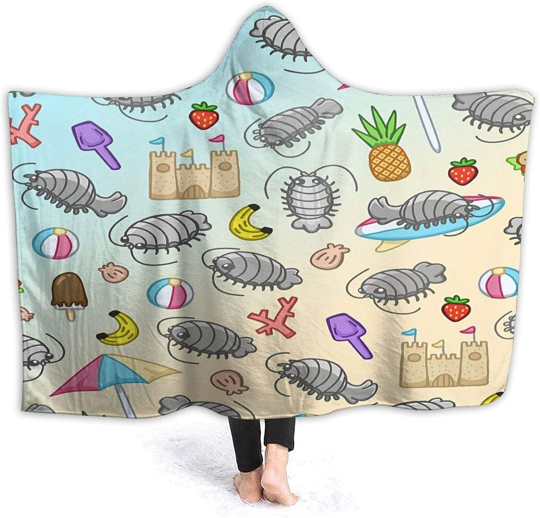 Minalo Wearable Max 52% OFF Hooded Blanket Plush Sale price Wrap Cute Crustacea Cartoon