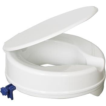 Rehausseur De Cuvette De Toilette 10cm Avec Couvercle Amazon Fr Hygiasne Et Soins Du Corps