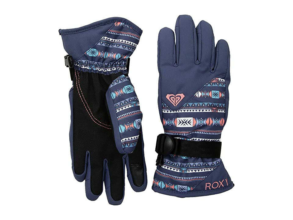 Roxy Kids Jerry Gloves (Little Kids/Big Kids) (Crown Blue/Indie Stripes) Extreme Cold Weather Gloves