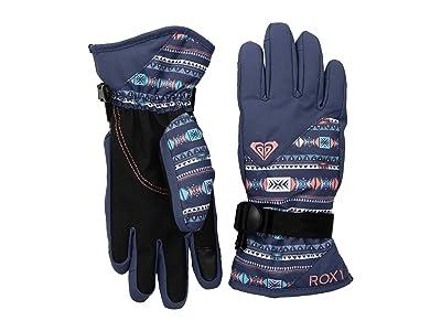Roxy Kids Jerry Gloves (Little Kids/Big Kids) (Crown Blue/Indie Stripes) Extreme Cold Weather Gloves