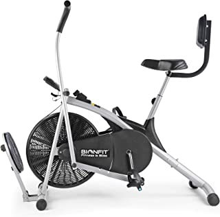 BIONFIT Upright Air Bike Exercise Cycle with Dual Moving Arms for Home Gym Cardio Full Body Weight Loss Workout - Pre Inst...