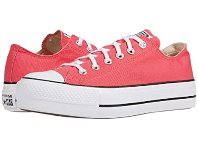 Converse Chuck Taylor(r) All Star Canvas Lift (Carmine Pink/White/Black) Women