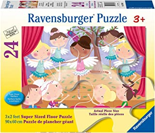 Ravensburger Ballet Beauties Super Sized Floor Puzzle 24 Piece Jigsaw Puzzle for Kids – Every Piece is Unique, Pieces Fit Together Perfectly