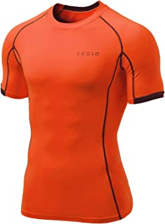 TESLA Mens Cool Dry Compression Baselayer Short Sleeve T Shirts MUB23