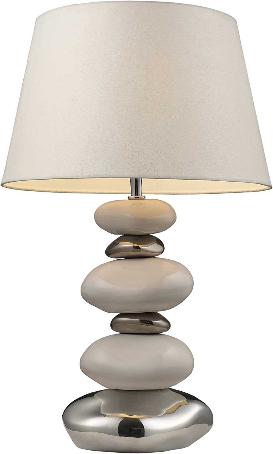 Dimond 3948 1 1-Light Table Lamp, 10  x 14  x 23, Chrome, Stone and Natural