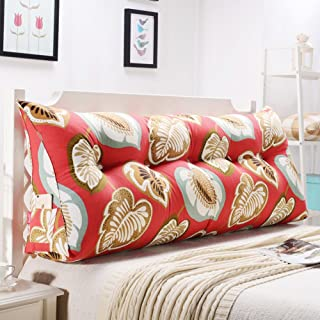 HAOLY Stripe Coussin Triangulaire Wedge Grand traversin,Tête de lit Dossier de Lecture,Coussin pour canapé lit,Banquette-l...