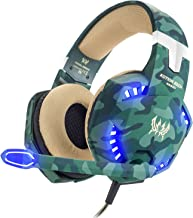 VersionTECH. Gaming Headset for Xbox One(Adapter Needed), PS4, PC, Updated Surround Stereo Gaming Headphones with Noise Cancelling Mic, LED Lights for Nintendo Switch(Audio), Gameboy, Computer Laptop
