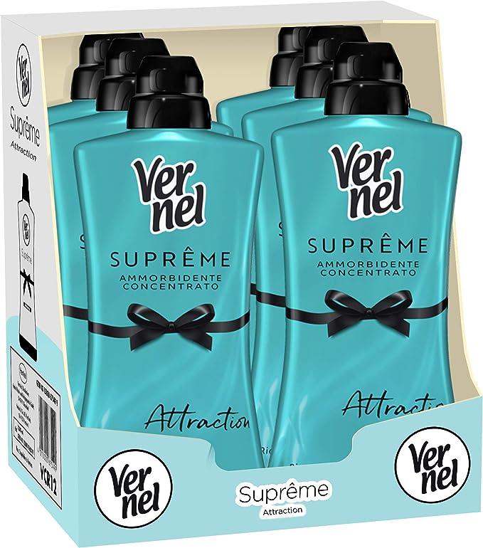 338 opinioni per Vernel Supreme Attraction Unisex, Ammorbidente Lavatrice Concentrato Profumato,