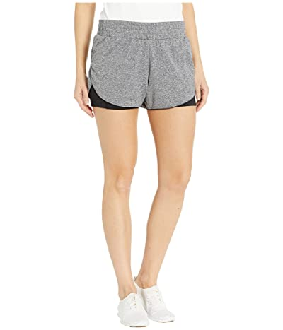 Brooks Rep 3 2-In-1 Shorts (Heather Asphalt/Black) Women