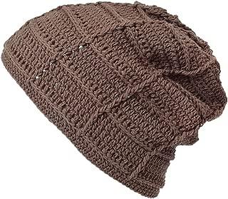 CHARM Mens Summer Beanie Cotton - Womens Crochet Slouch Cap Hand Made Chemo Hat