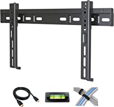 Atlantic Low-Profile Fixed TV Wall Mount - For Flat Screen TVs 17-42 inch, includes 6 foot HDMI Cable, Cable Ties and Leveler PN63607147